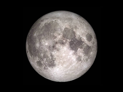 full moon with black background