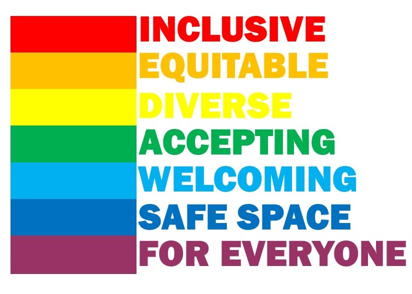 rainbow inclusion logo