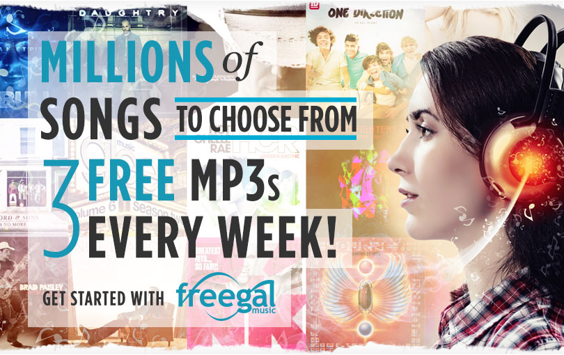 Freegal streaming music banner
