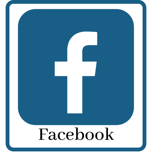 Icon and link to library Facebook page.