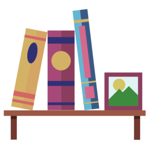 Image of books shelved