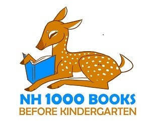 1000 Books Before Kindergarten logo. A picture of a deer reading a book.