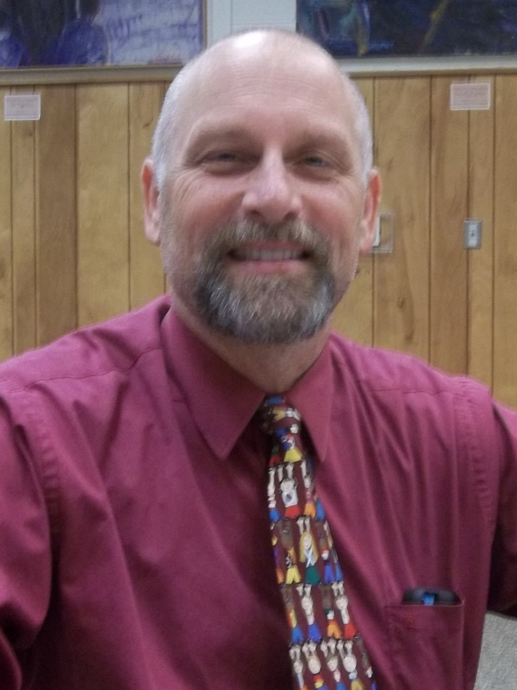 Photo of Greg Brown, library board president