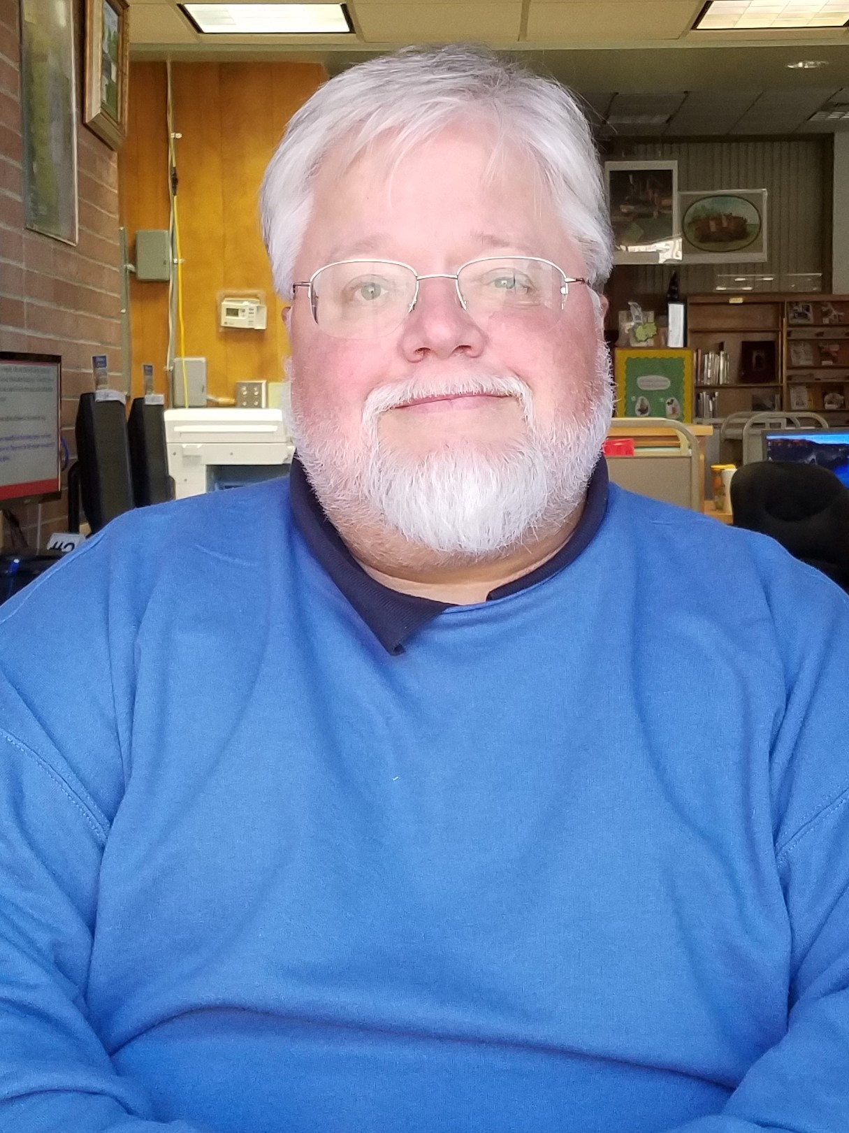 photo of library director Bob Barringer