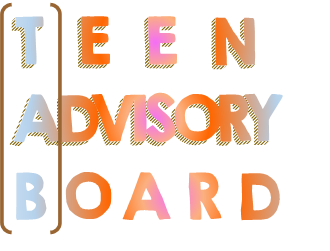 Teen Advisory Board stacked text in color