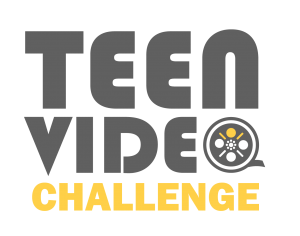 Teen Video Challenge with stylized film reel