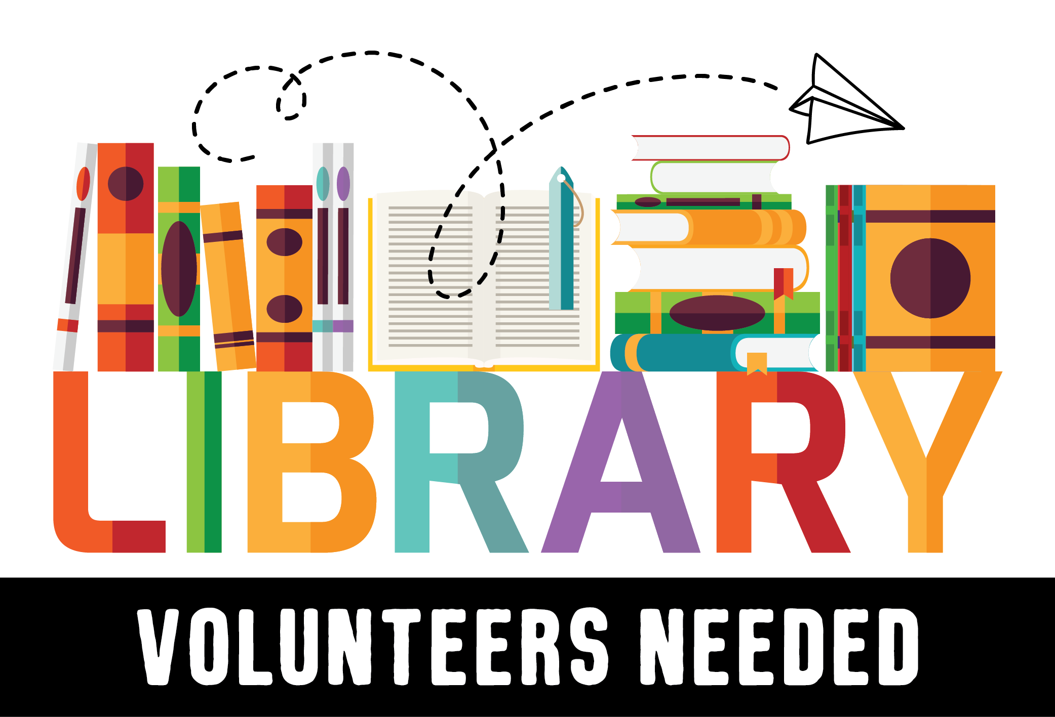 library volunteers needed image