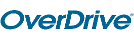 Overdrive logo. Includes link to login page.