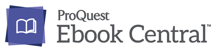 Proquest's Ebook Central logo. Image links to proquest's website.