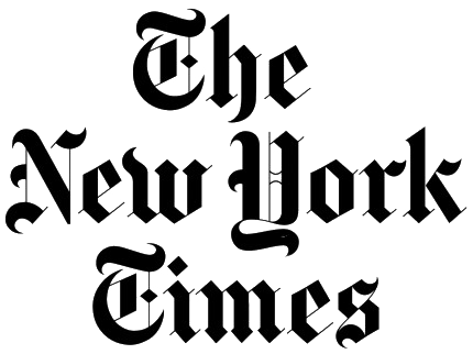 The New York Times logo. Image links to New York Times website.