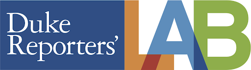 Duke Reporters' Lab's Logo. Image links to Duke Reporters' Lab's Fact Checking website.