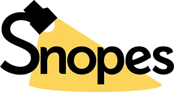 Snopes' logo. Image links to the Snopes website.