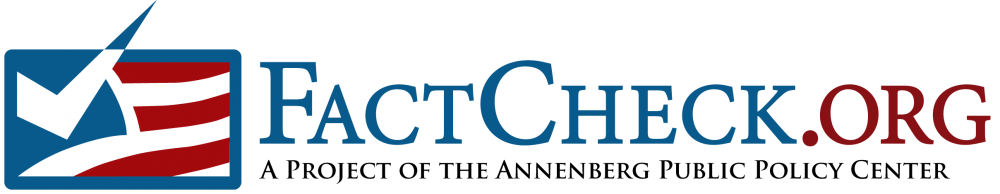 FactCheck.org's logo. Image links to the FactCheck.org website.