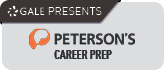 Image links to Peterson's Career Prep website, which is presented by Gale Databases. Image includes logos for both Gale and Peterson's.