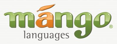 Mango Languages logo, includes link to login page.