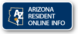 Arizona Resident Online Info. Image includes link to informational page.
