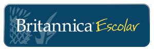 El logotipo de la Britannica Escolar incluye un enlace para iniciar sesion en la pagina.