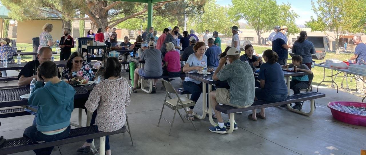 Photo includes volunteers and staff from the Cottonwood Public Library's volunteer appreciation BBQ.