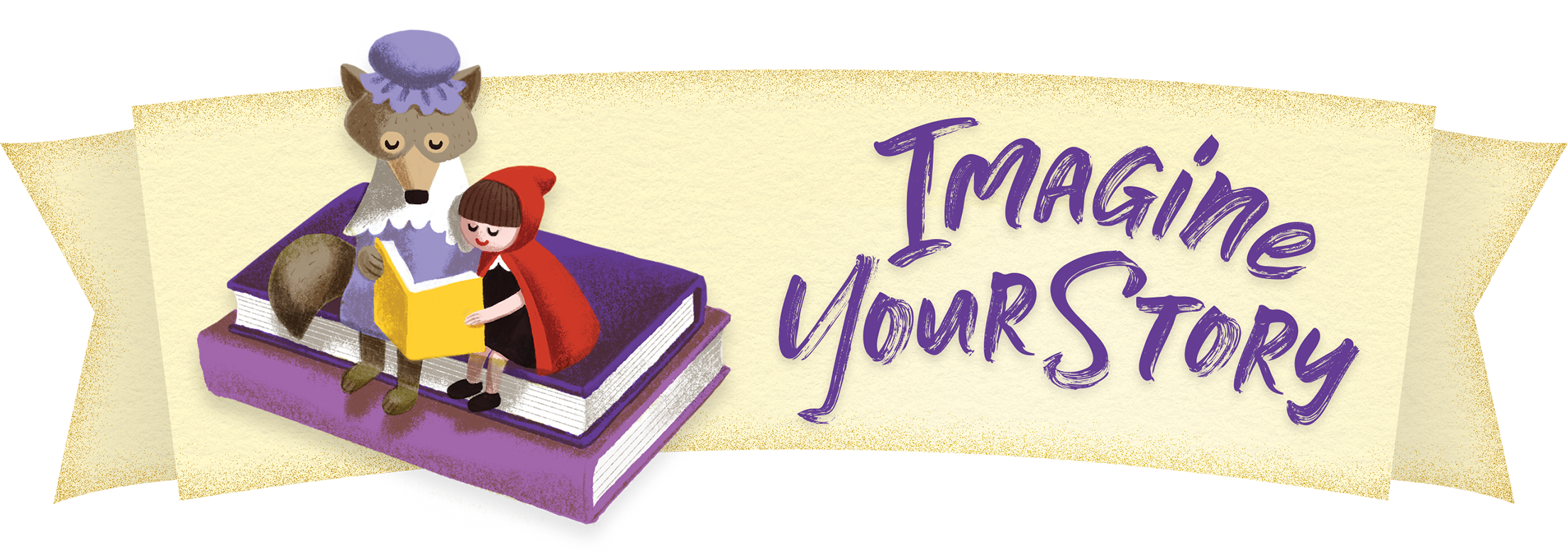 Image is one of the 2020 CSLP Summer Reading Program logos. Says Imagine Your Story.