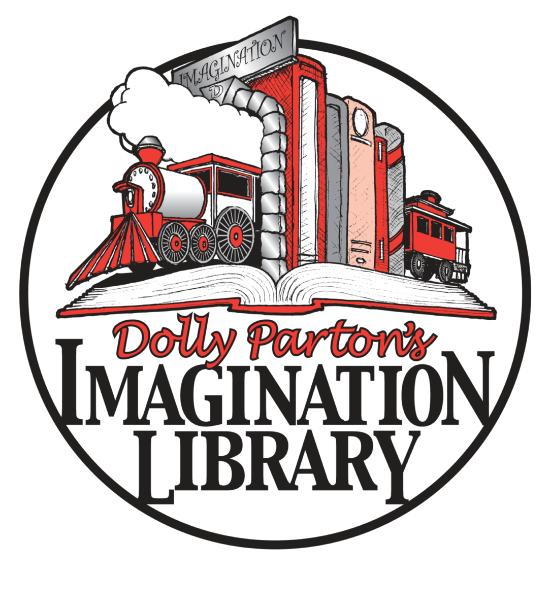 Dolly Parton's Imagination Library logo.