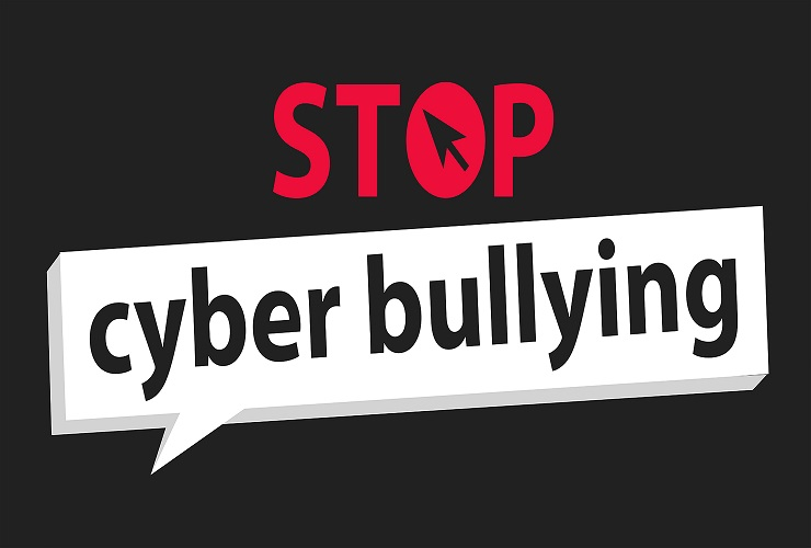 Image says stop cyber bullying and links to stopbullying.gov website.