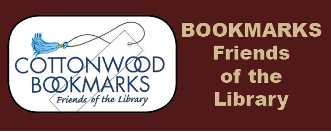 Bookmarks Friends of the Library logo. Image links to Bookmarks website.