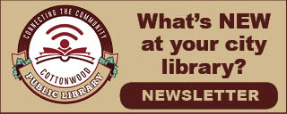 What's NEW at your city library? Image includes link to most recent library newsletter.