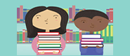 Picture of children with books