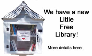 We have a new Little Free Library!  Click for more details