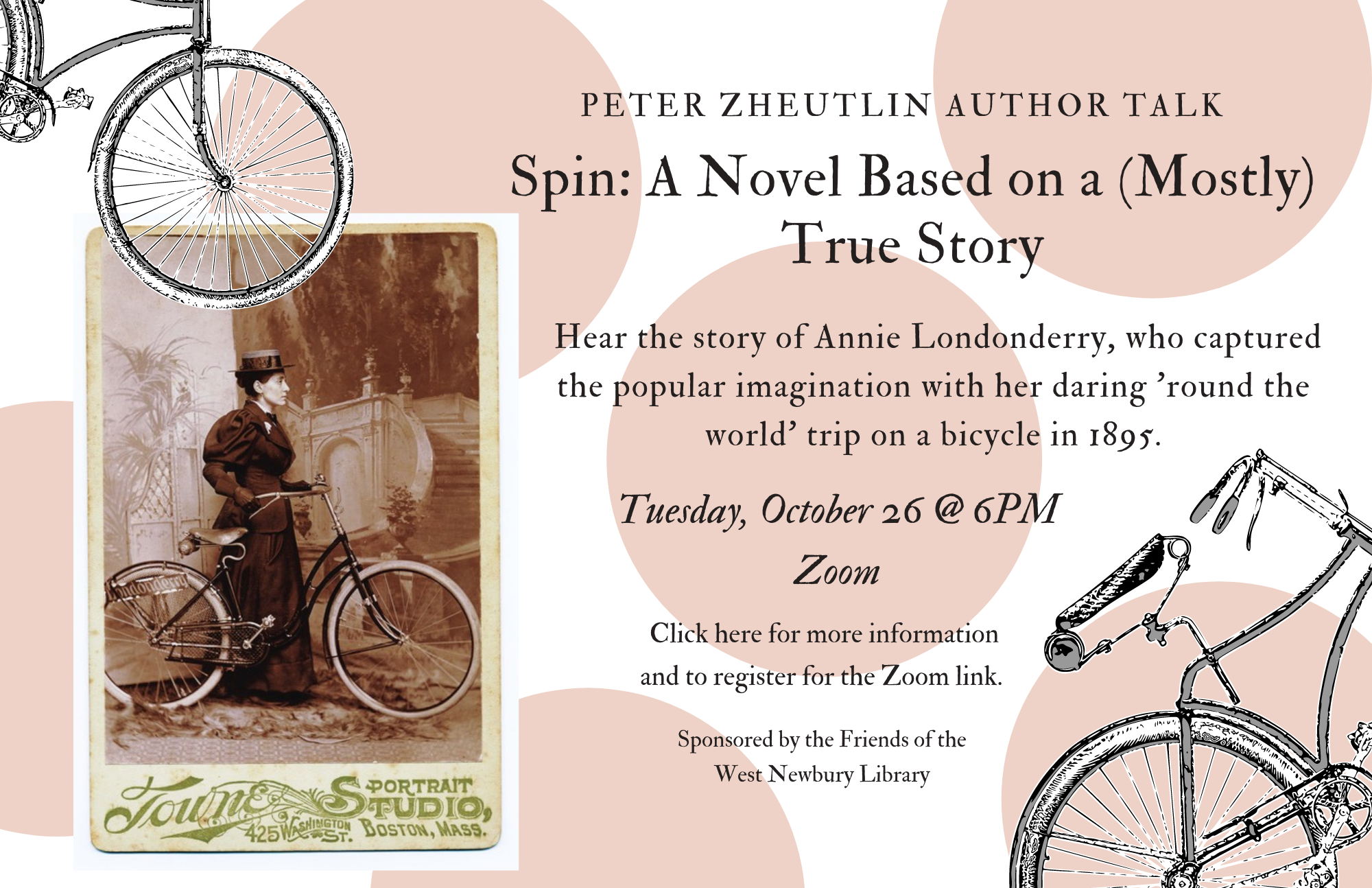 Peter Zheytlin Author Talk: Spin 10/26 @ 6 pm click here to register.