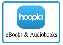 Hoopla ebooks, audiobooks, movies, music and more image and link