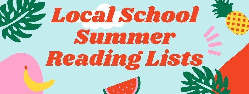 Local School Summer Reading Lists