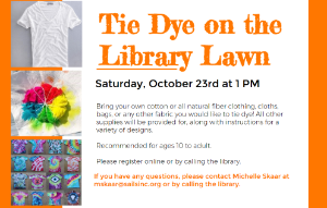 Tie Dye on the Library lawn