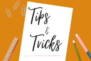 Tips and Tricks Banner