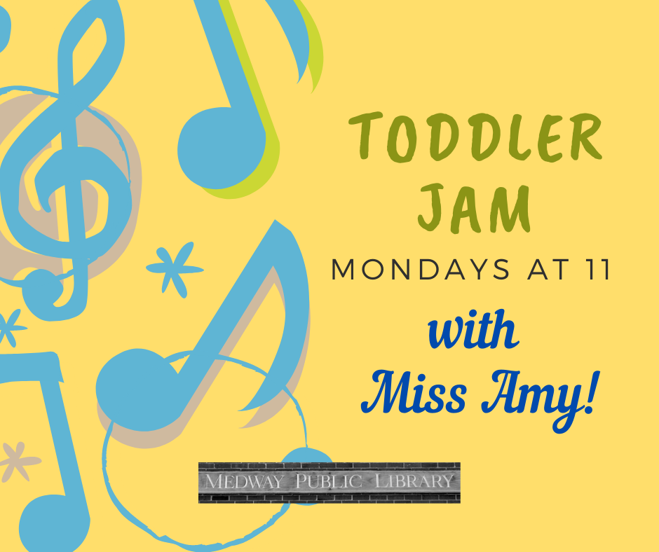 Toddler Jam with Miss Amy Mondays at 11