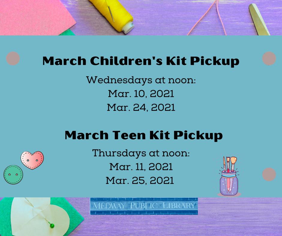 March kit schedule