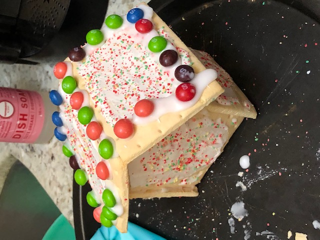 toaster pastry gingerbread house base