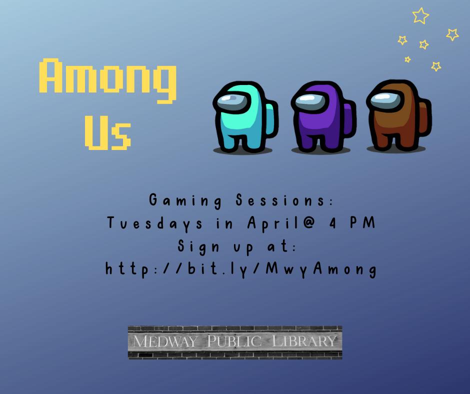 Among Us Tuesdays at 4 http://bit.ly/MwyAmong