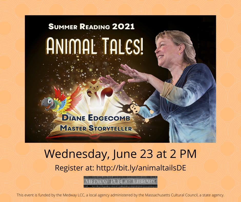 Diane Edgecomb 6/23 bit.ly/animaltailsDE