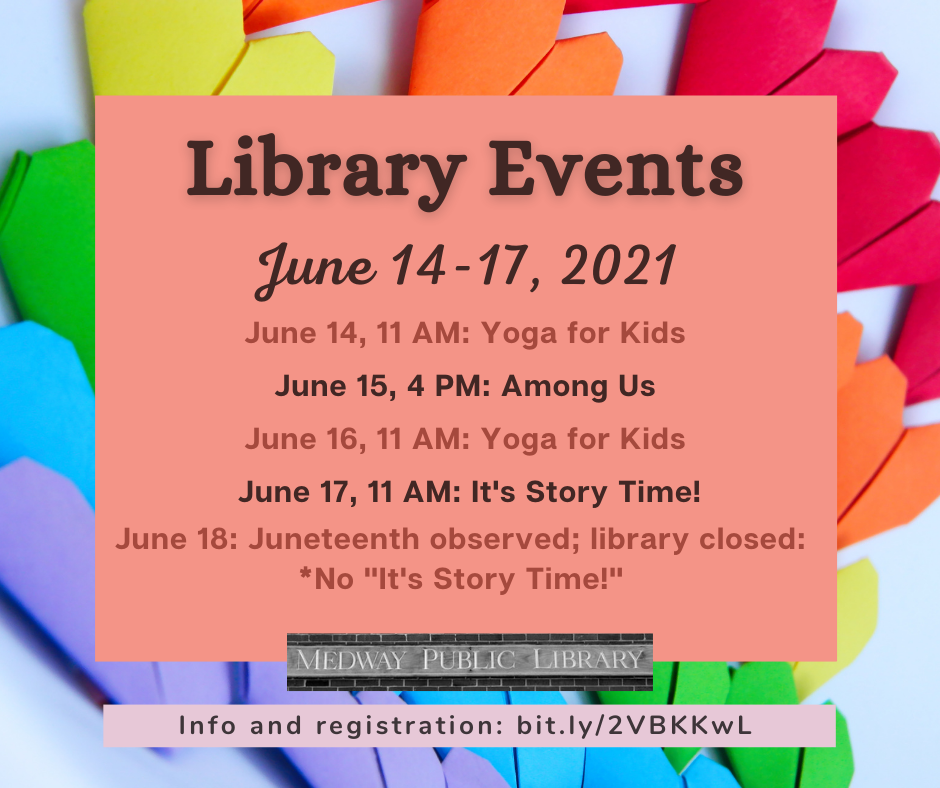 Library Events June 14-18