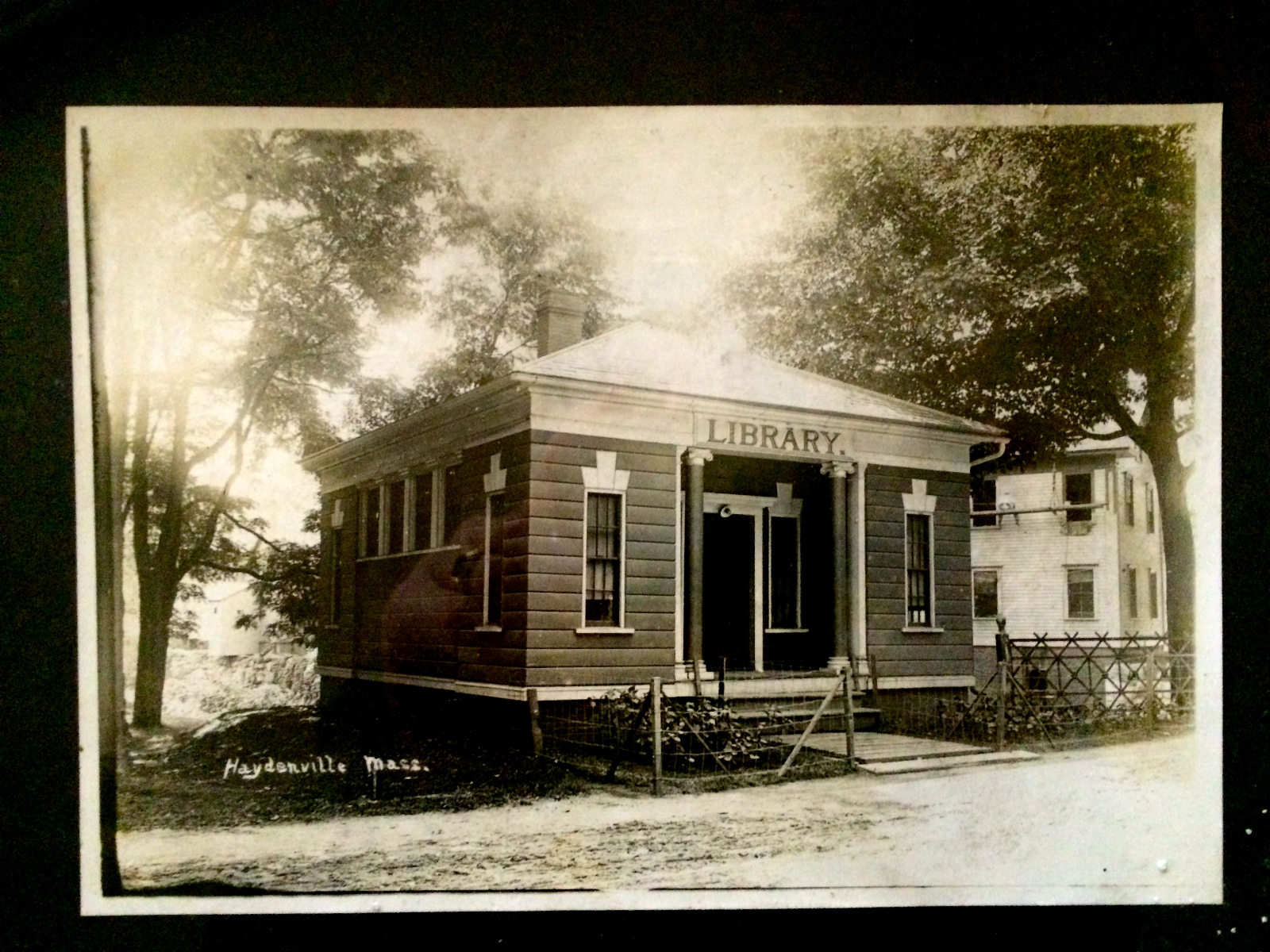 Early photograph of the Haydenville Library