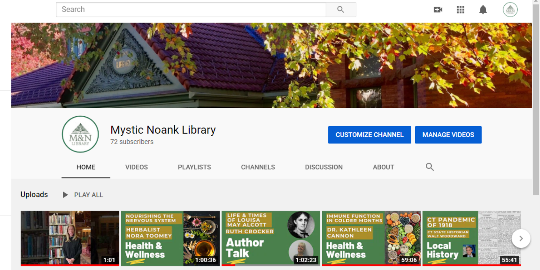 MNL YouTube Page
