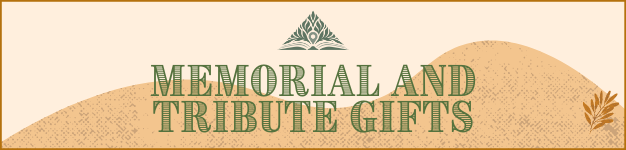 Memorial and Tribute Gifts Banner