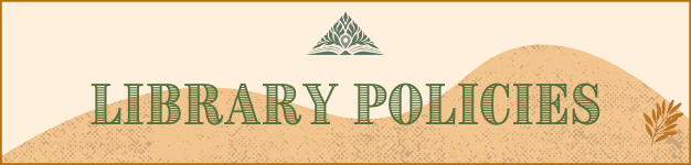 Library policies banner
