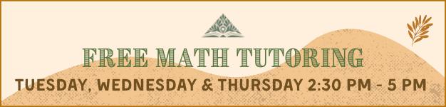 Free Math Tutoring Banner