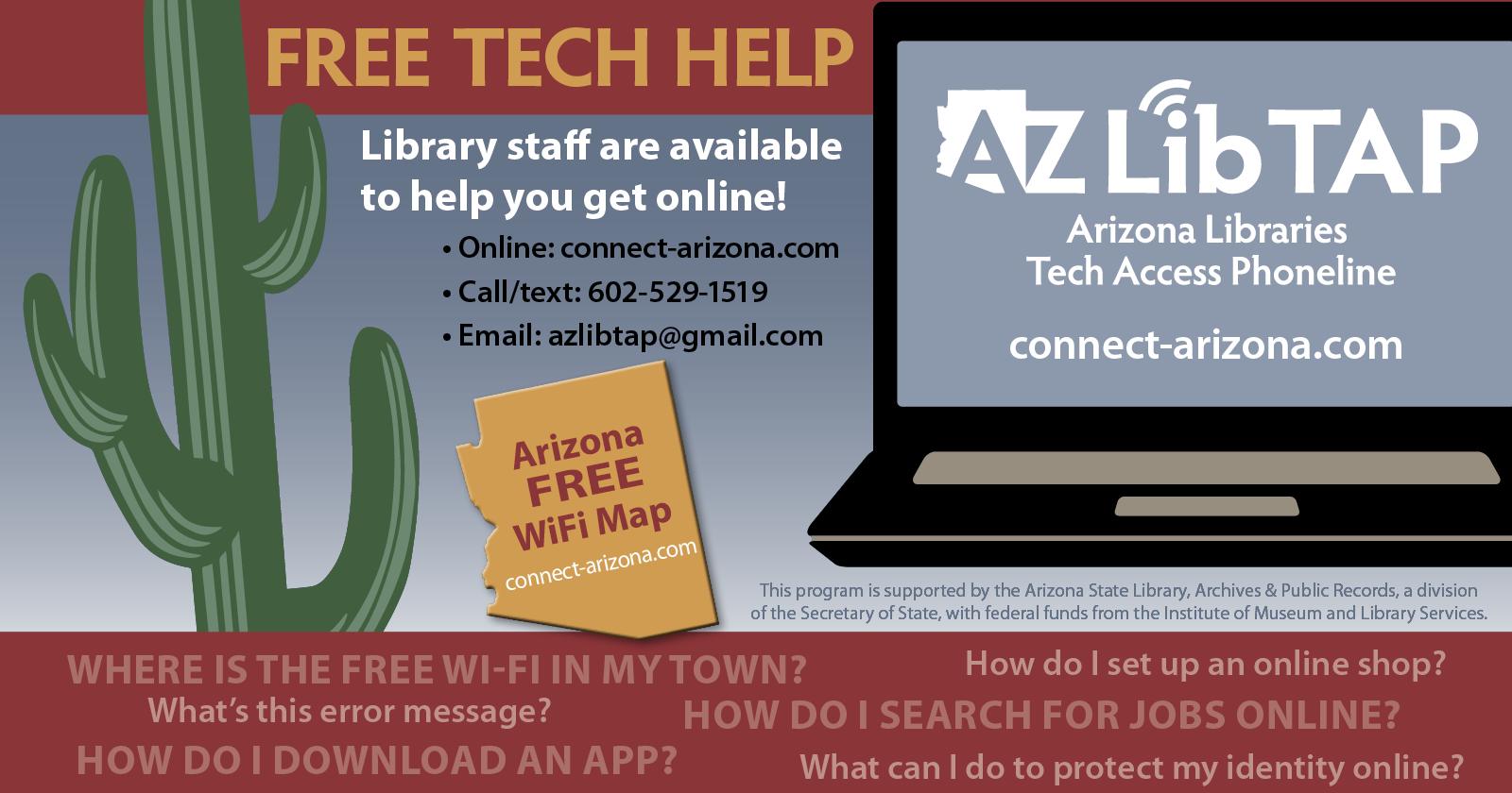 Arizona Libraries Tech Access Phoneline