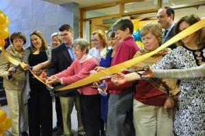 The Ribbon cutting ceremony