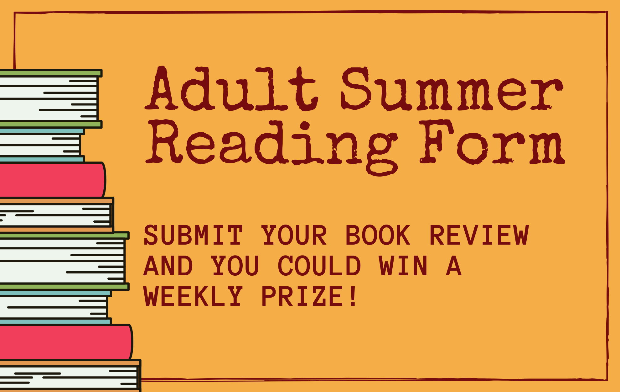 Click to submit your Adult Summer reading book review