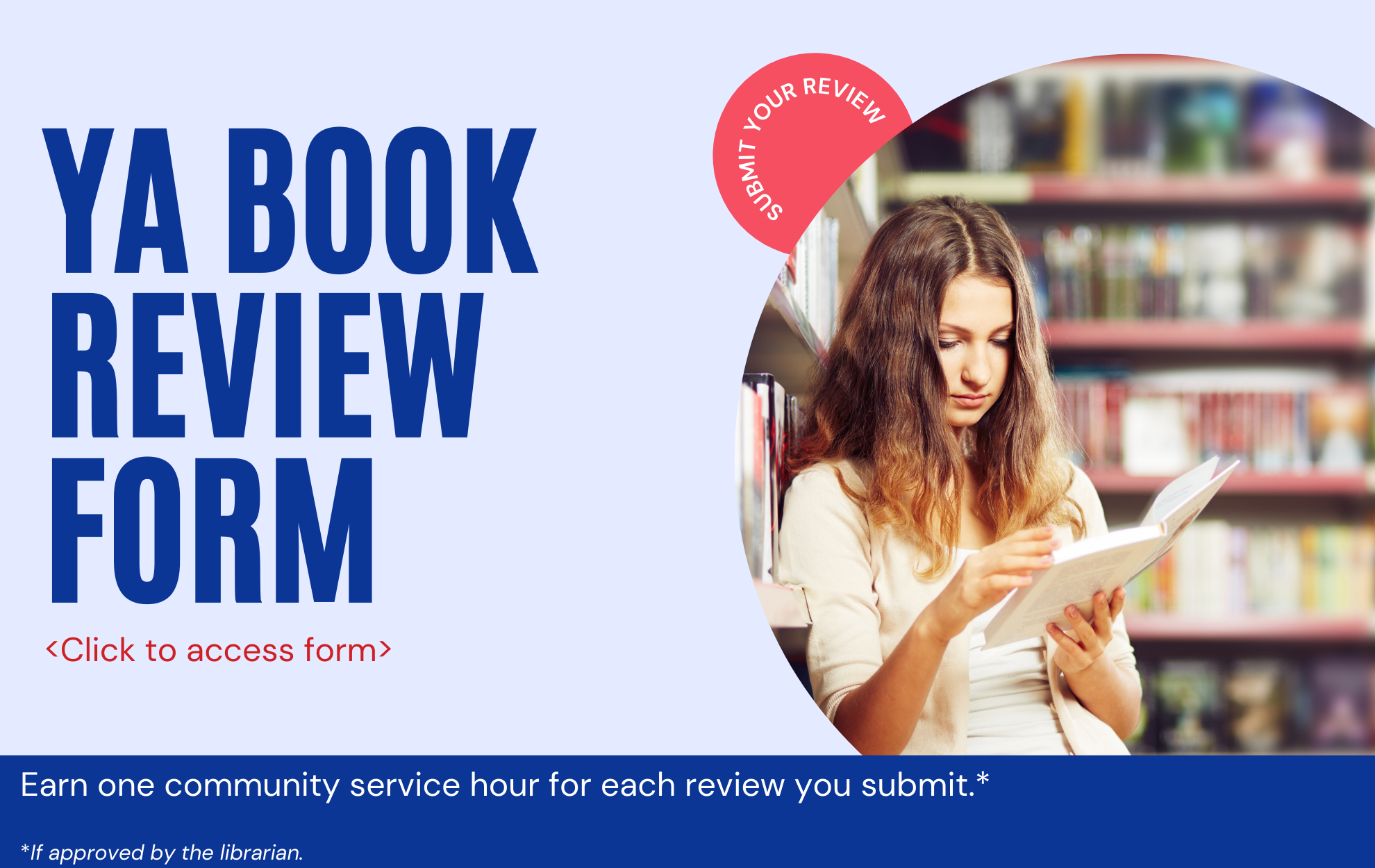 Click to submit your YA book review