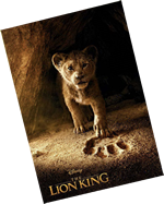 Movie poster of the Lion King.